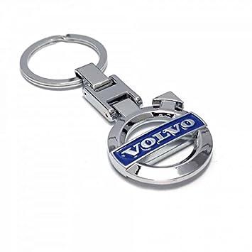 Volvo Llavero Blue Logo 3D Cromado Llavero Anillo Fob ...