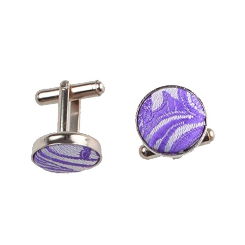 Occasions Purple Tie Various of Paisley Cufflinks Pocket Square Set Patterned Men Pvp8gqU7