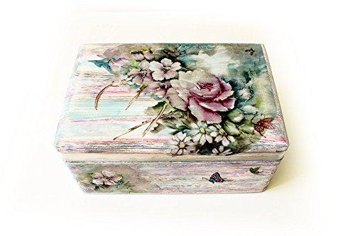 Caja de madera, caja para boda, bautizo, comunión o regalo. Pintada y
