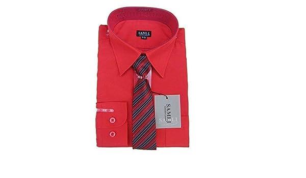 Samli Camisa Niños y Pajarita Set Manga Larga Formal Estilo Informal Camiseta Roja 1añoa 1 - Rojo, 1-2 Años: Amazon.es: Ropa y accesorios