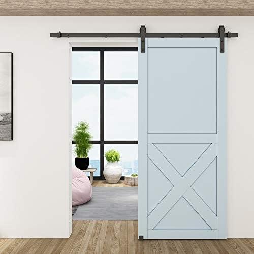 Soporte de pared para puerta corredera, guía de suelo de color negro plano de hasta 1 – 3/8