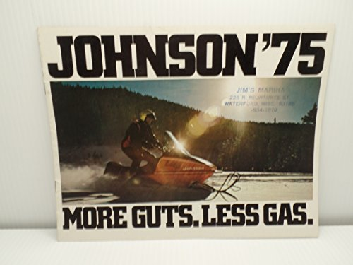 - OMC Johnson Snowmobile 1975 Brochure Booklet Advertising JX Phantom Specs Vintage