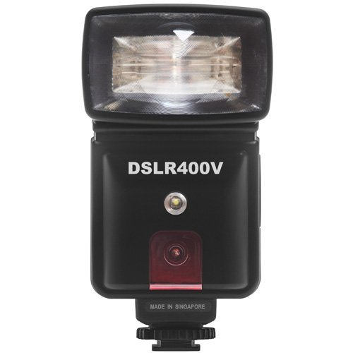 Precision Design DSLR400V High Power Auto Flash with LED Video Light for Nikon D3200, D3300, D5200, D5300, D7000, D7100, D610, D800 Cameras