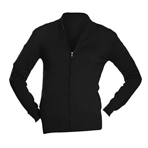 SOL'S Womens/Ladies Gordon Full Zip Cardigan (M (8-10 US)) (Black) - Ladies Full Zip Cardigan Sweaters