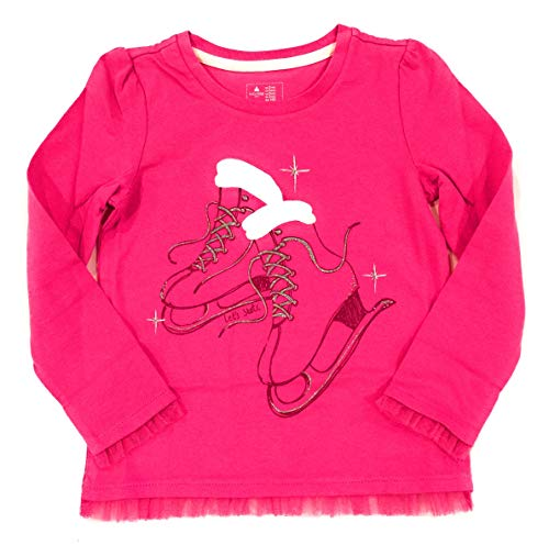 - GAP Let's Skate Long Sleeves Happy Pink Graphic Tee 5YRS
