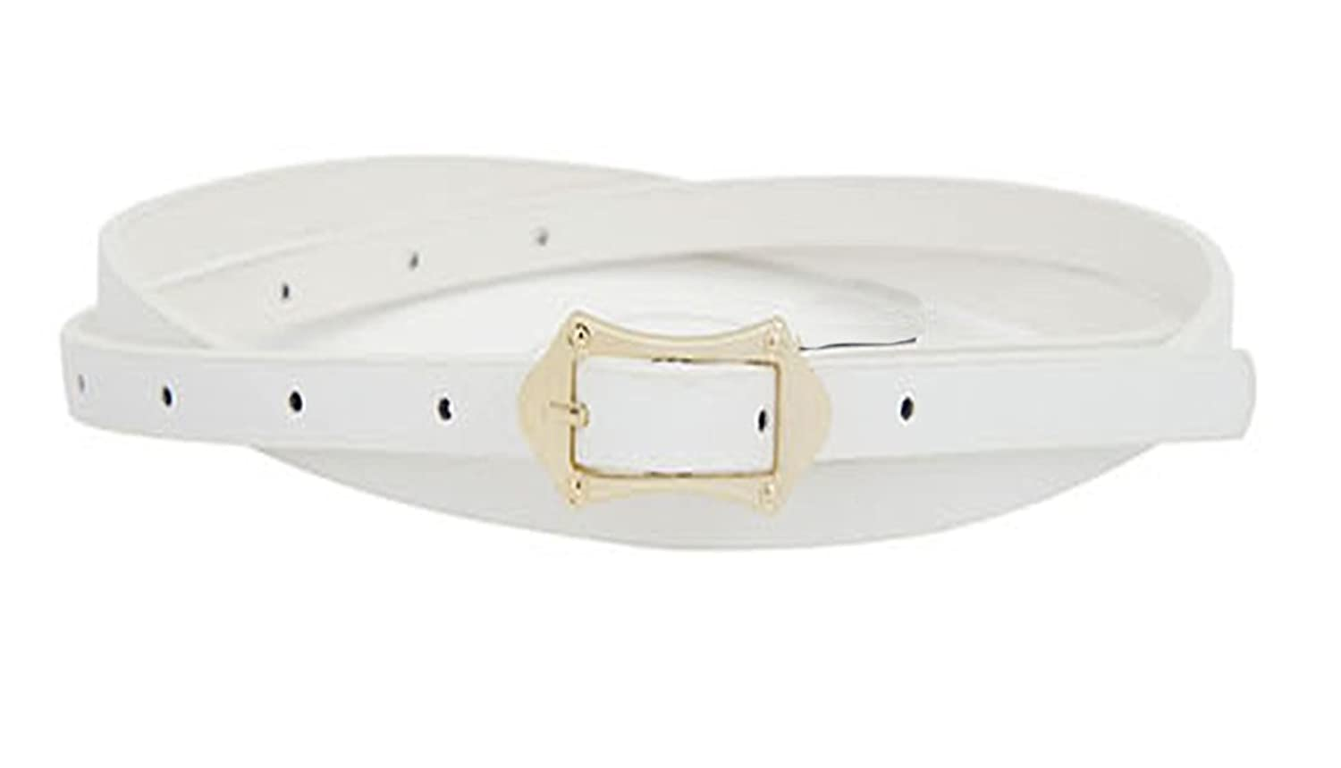 Skinny Belt with Delicate Gold Victorian-inspired Buckle