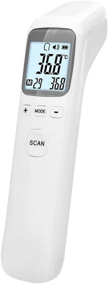 Thermom/ètre frontal portatif Thermom/ètre num/érique infrarouge compact Thermom/ètre num/érique sans contact pour b/éb/é enfants adulte blanc