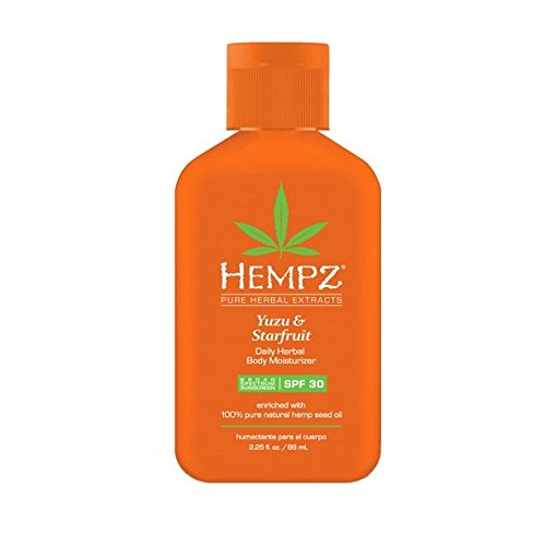 Hempz - YUZU & STARFRUIT Daily Herbal Body Moisturizer SPF 30, (2.25 oz)