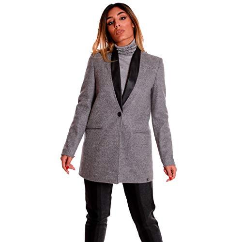 Lunga Jacket Coconuda Moda Cappotto Donna Sexy Ragazza Giacca Grigio C2400 X6Xn5qr1