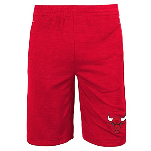 Chicago Bulls NBA Youth Free Throw Shorts Red (Youth Medium 10/12)