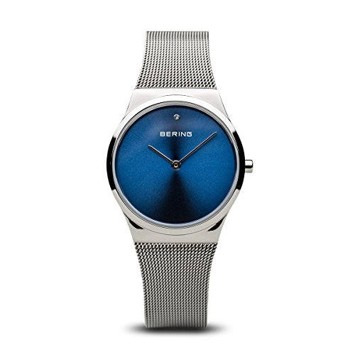 BERING Time 12130-007 Women Classic Collection Watch with Stainless-Steel Strap and scratch resistent sapphire crystal. Designed in Denmark