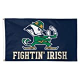 Cheap Notre Dame Fighting Irish with Leprechaun NCAA 3 x 5 Ft Deluxe Banner Flag