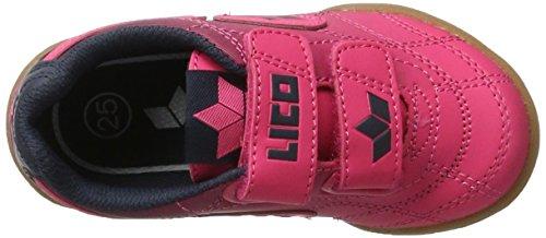 Lico Bernie V, Zapatillas de Balonmano para Niñas Rosa (Pink/marine)