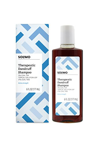 Amazon Brand - Solimo Therapeutic Dandruff Shampoo, Extra Strength, 6 Fluid Ounce