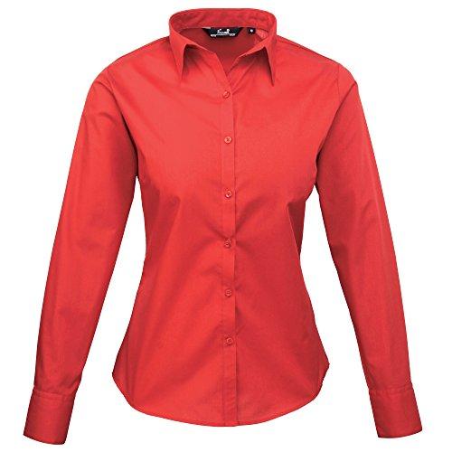 Rosso Red Lunghe Premier Donna Maniche Camicia 000 strawberry R4qP7Hq