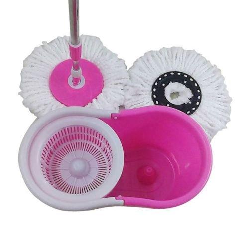 360° Bucket Floor Spin Mop (Pink) - 4