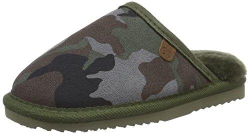 Warmbat Classic Print - Zapatillas de casa Unisex Niños Blau (Camo Dark Navy)