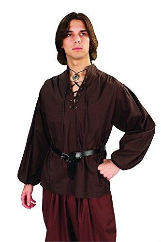 Costumes Pirate Marauder (Privateer Men's Renaissance Cotton Shirt (Cocoa, XX)