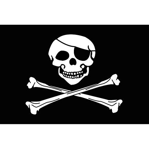 (Nylon Pirate Flag From SoCal Flags® 3x5 Foot Jolly Roger - Sold by A Proud American Company - High Quality Weather Resistant Durable - Heavy 200d Material Not See Thru Like Other Brands )