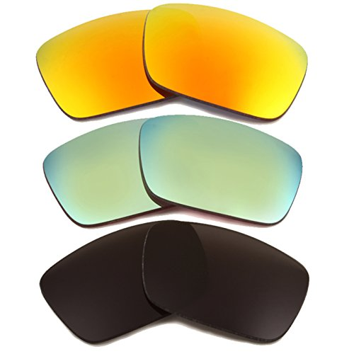 Best SEEK Replacement Lenses Oakley FUEL CELL Polarized Black Yellow - Cheap Oakley Fuel Sunglasses Cell