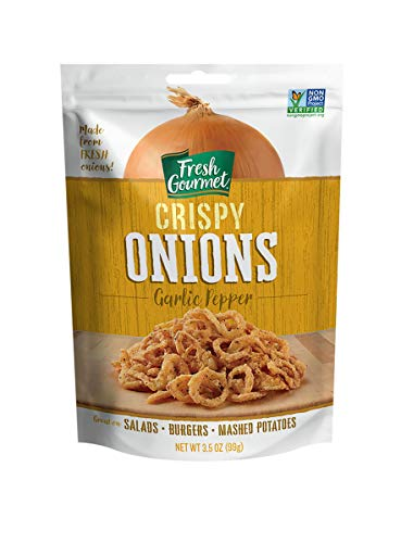 (Fresh Gourmet Crispy Onions, Garlic Pepper, 3.5 Ounce (Pack of 6))