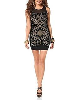 Melrose Kleid Strickkleid Mini Große Größen Rundhals Schwarz ... a810b7dfac