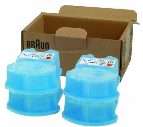 4x Braun Syncro Shaver System Clean & Renew Refills
