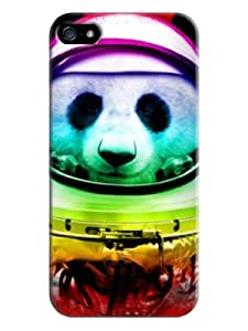 Sangu Colorful Panda Hard Back Shell Case / Cover for Iphone 5 and 5s - Red