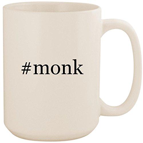 #monk - White Hashtag 15oz Ceramic Coffee Mug Cup