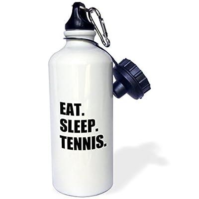 Statuear Eat Sleep Tennis en aluminium 567gram Bouteille d'eau 600ml Cadeau