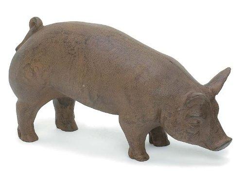 Cast Iron Farm Pig Garden Statue Patio Y - Patio Iron Garden Statues Shopping Results