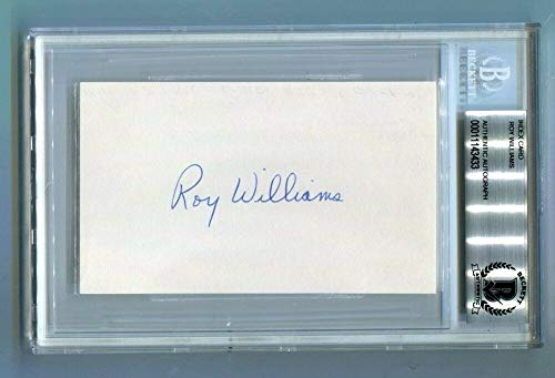 (Roy Williams Signed Index Card 3x5 Autographed UNC Tar Heels Beckett BAS *3433)