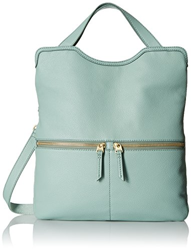 Fossil Erin Foldover Tote, Sea Glass, One - Leather Erin