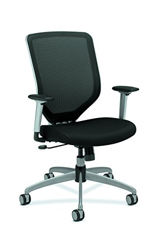 HON Boda High-Back Work Chair- Mesh Computer Chair for Office Desk, Black (HMH01) by HON
