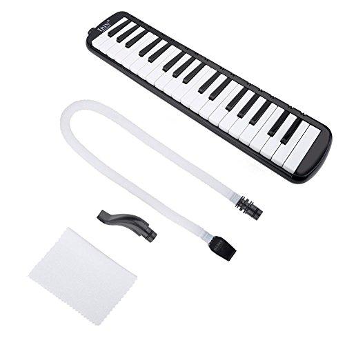 Armónica 32/37 Teclas Estilo Piano Melodica con Bolsa Harmonica para Principiantes Niños(negro 37)