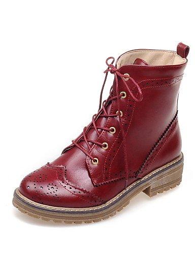 Uk6 Cn39 Oficina Vestido us8 Zapatos Tacón Rojo us6 Bajo Brown Punta Casual Cerrada De Brown Mujer Trabajo Marrón Redonda Uk4 Botas Eu36 Semicuero Xzz Cn36 Y Eu39 R1qAwC