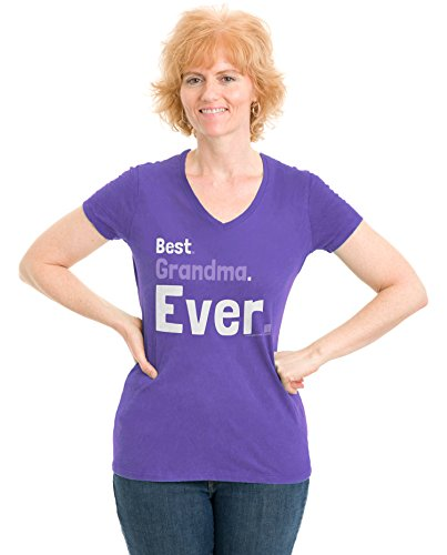 Best Grandma Ever   Cute Grandmother, Nana, Mother's Day Ladies' V-neck T-shirt