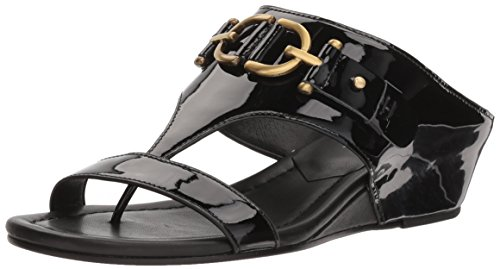 Donald J Pliner Womens Dayna Wedge Sandal Black