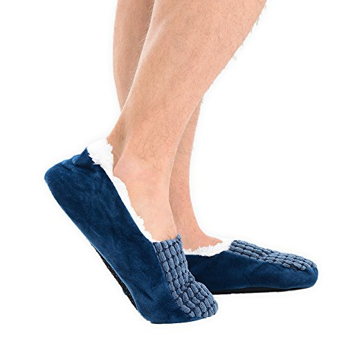 adam & eesa - Zapatillas de estar por casa para hombre azul marino
