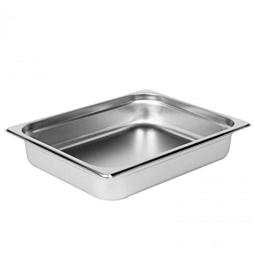 Corella 22 Gauge Anti-Jam Steam Pans (Extra Heavy) (Half size 2½'' deep, 10½'' x 12¾'')