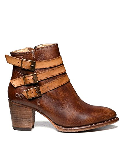 Bed|Stu Women's Begin Leather Boot (9.5 B(M) US, Tan Teak Driftwood)