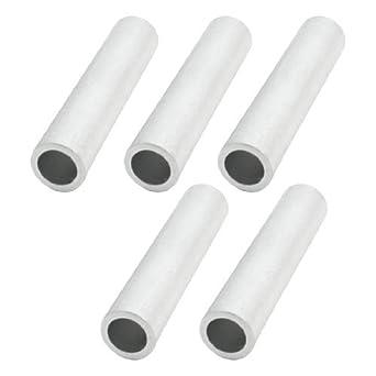 17x82mm reta passando Pipes tubo de liga de alumínio 5Pcs