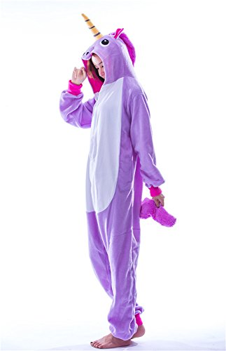 Cartoon clothing Purple Unicorn Onesie Pajamas Costume (Large) ()