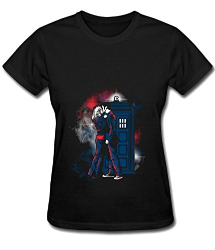 break-time-womens-doctor-with-one-heart-simple-blouse-tee-black
