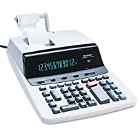 Sharp VX2652H Two-Color Printing Calculator, 12-Digit Fluorescent, Black/Red