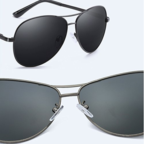 Turismo y polarizadas Sol Protección Hombres a Metal Aire de Actividades Aplicar de para UV400 como al Marco Gafas Libre 9 2 Playa Conducir nHqUwC