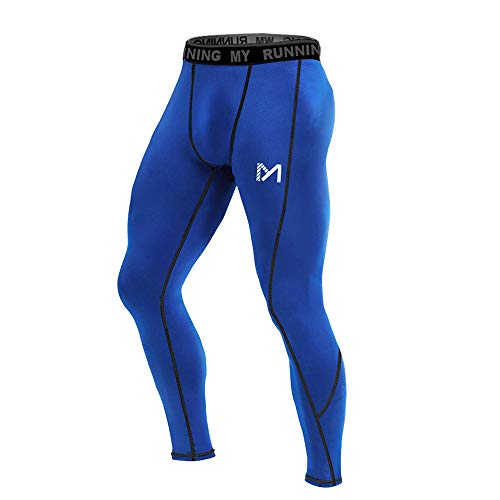 - MEETYOO Men's Compression Pants, Cool Dry Long Base Layer Leggings, Sport Fitness Underwear Tights (Blue, XX-Large)