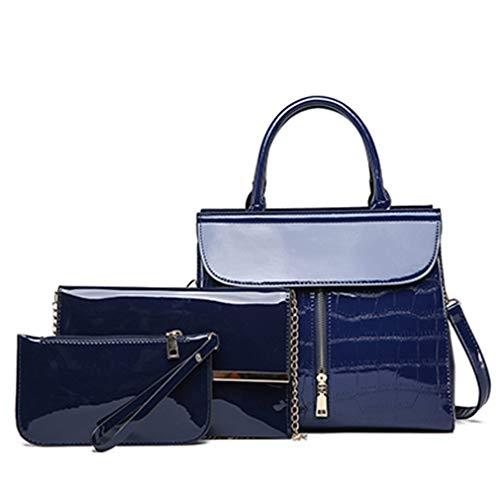 3 Bag 23cm pcs 3 Messenger Mujer 31cm Zipper Diseñador Black Set Blue 13cm Bolsos 0rw0P