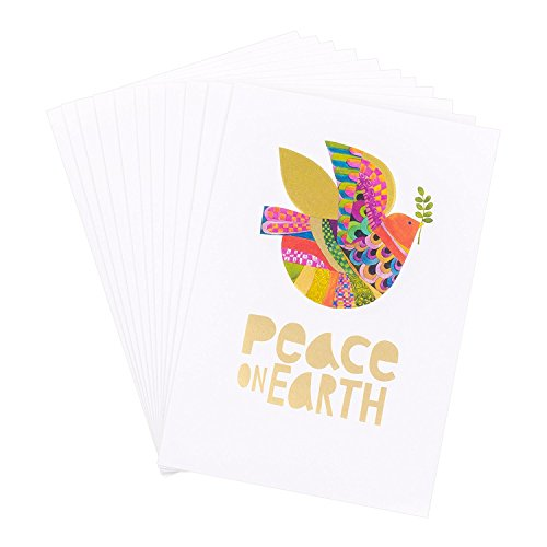 Hallmark UNICEF Christmas Boxed Cards (Peace On Earth Dove Lettering, 12 Christmas Greeting Cards and 13 Envelopes) Photo #4