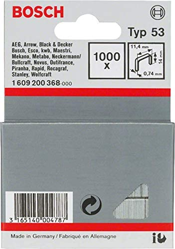 Bosch 2609255857 staples wire end type 53 width 11,4 mm thickness 0,74 mm lon
